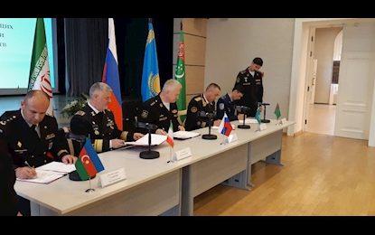 امضاء توافقنامه همکاریهای نظامی کشورهای حوزه خزر