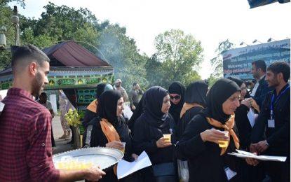 استقبال از زائران خارجی اربعین حسینی در مرز آستارا / تصاویر