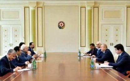 دیدار ظریف با رئیس جمهور آذربایجان
