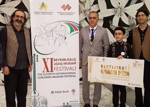 پارسا خائف برنده فستیوال بینالمللی موسیقی موغام کشورهای اسلامی در باکو