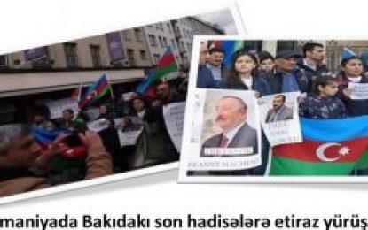 تجمع اعتراضی آذری های مقیم آلمان به سرکوب فعالان سیاسی در جمهوری آذربایجان
