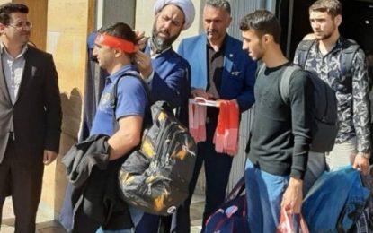 استقبال از زائران خارجی اربعین حسینی در مرز آستارا