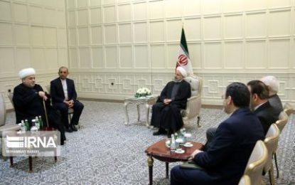 دیدار روحانی با رئیس اداره مسلمانان قفقاز