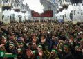 اجتماع سوگواران آذری زبان در حرم رضوی / تصاویر