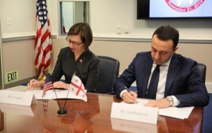 امضا توافقنامه جدید همکاری نظامی میان آمریکا و گرجستان