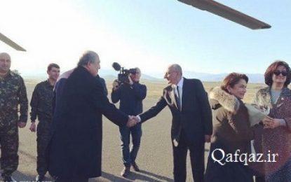 حضور رئیس جمهور ارمنستان در مناطق اشغالی قره باغ