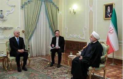 دیدار روحانی با معاون نخست وزیر جمهوری آذربایجان