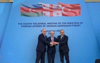 نشست سهجانبه وزیران خارجه جمهوری آذربایجان، گرجستان و ترکیه برگزار شد