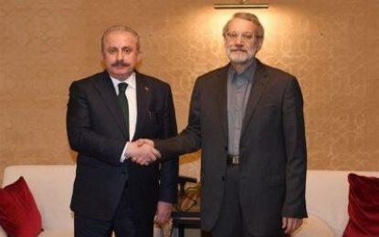 دیدار روسای مجلس ایران و ترکیه در آنتالیا