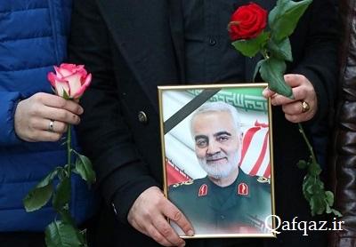 مراسم بزرگداشت سپهبد شهید سلیمانی در روسیه / فیلم