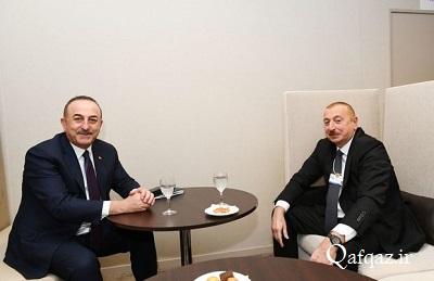 دیدار چاووش اوغلو با رئیس جمهور آذربایجان در داووس