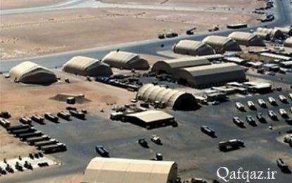 لحظه اصابت موشک به پایگاه عینالاسد آمریکا در عراق / فیلم