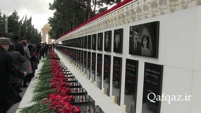 گرامیداشت یاد قربانیان حادثه ۲۰ ژانویه در جمهوری آذربایجان / فیلم