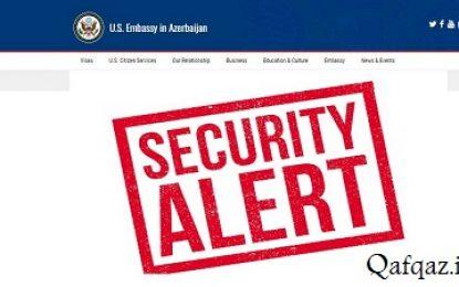 هشدار سفارت آمریکا به اتباع این کشور در جمهوری آذربایجان