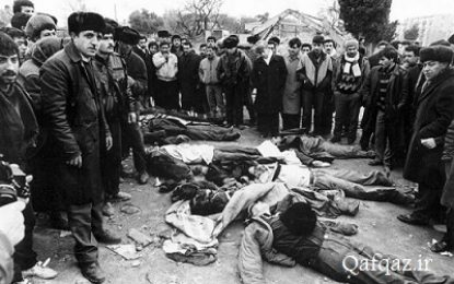 آیت الله سید حسن عاملی: کنگره آمریکا دستور قتل عام مردم جمهوری آذربایجان در ۲۰ ژانویه را صادر کرده بود / تصاویر