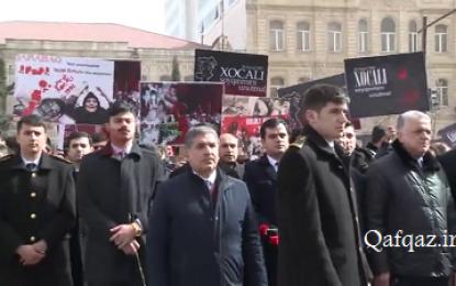 برگزاری سالروز فاجعه خوجالی در جمهوری آذربایجان / فیلم