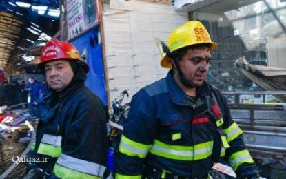 آتش سوزی گسترده در بزرگترین مرکز خرید جمهوری آذربایجان / تصاویر