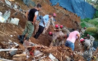 ۳ کشته و زخمی بر اثر رانش زمین در جمهوری آذربایجان / تصاویر
