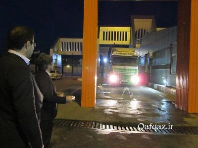 ضد عفونی کامیونهای ورودی از جمهوری آذربایجان به کشور