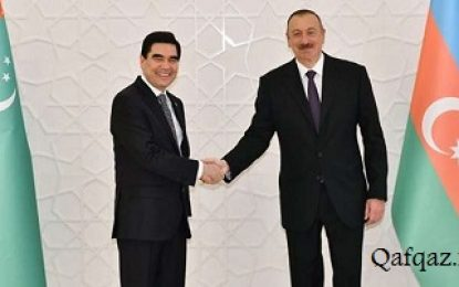 دیدار روسای جمهوری ترکمنستان و آذربایجان در باکو
