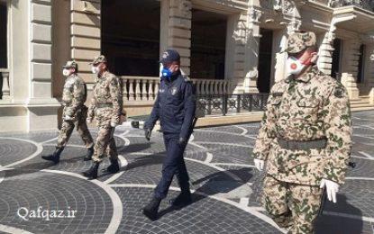 بکارگیری نیروهای ژاندارمری برای تشدید قرنطینه در جمهوری آذربایجان