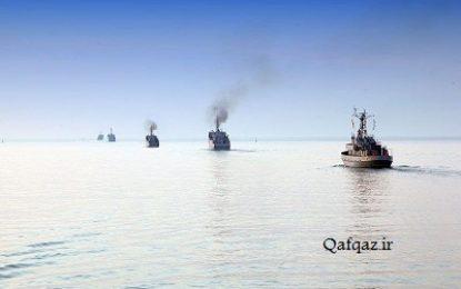 رزمایش نیروی دریایی جمهوری آذربایجان در دریای خزر