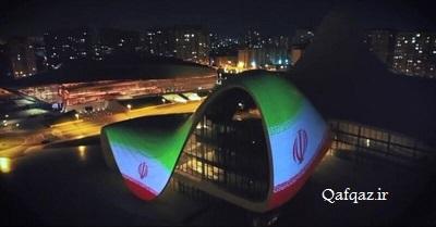 نمایش پرچم جمهوری اسلامی ایران در باکو