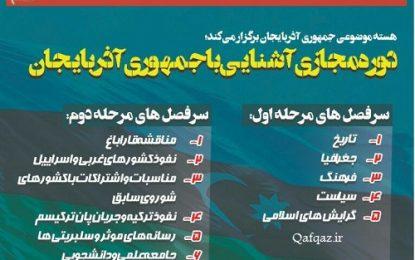 برگزاری دوره مجازی آشنایی با کشور آذربایجان