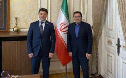 ملاقات سفیر جمهوری اسلامی ایران در باکو با رئیس تشکیلات جامعه آذربایجانی قره باغ