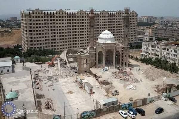 تخریب مسجد حضرت زهرا سلام الله علیها در باکو / تصاویر