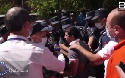 ضرب و شتم مدالآور المپیک توسط پلیس ارمنستان / فیلم