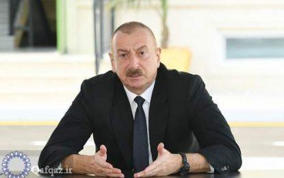 رییس جمهور آذربایجان: اشغال شهر شوشا توسط نیروهای ارمنی نتیجه فعالیت خرابکارانه جبهه خلق بود