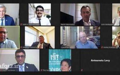 دیدار و گفتگوی برخط نمایندگان مجلس جمهوری آذربایجان و کنست رژیم صهیونیستی