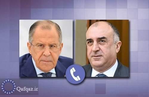 گفتگوی تلفنی لاوروف و محمدیاراف در مورد درگیری های جاری میان نیروهای جمهوری آذربایجان  و ارمنستان