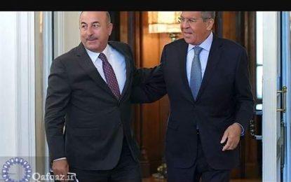 گفتگوی تلفنی وزیران خارجه روسیه و ترکیه درباره مسایل منطقه ای