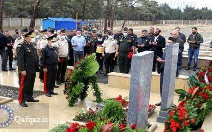 برگزاری مراسم بزرگداشت شهدای اخیر جمهوری آذربایجان/تصاویر