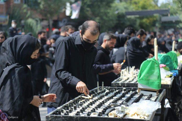 مراسم شمع گردانی در تاسوعای حسینی در اردبیل / عکس