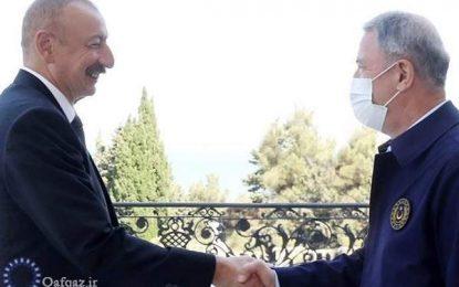دیدار وزیر دفاع ترکیه با الهام علیاف