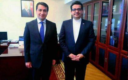 دیدار سید عباس موسوی با دستیار رئیس جمهوری آذربایجان