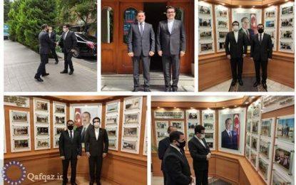دیدار سفیر ایران در جمهوری آذربایجان با نماینده جمهوری خودمختار نخجوان در باکو