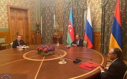 برگزاری نشست وزرای خارجه آذربایجان، ارمنستان و روسیه در مسکو