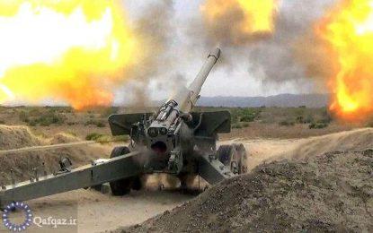 حمله توپخانه ای ارمنستان به برخی شهرهای آذربایجان