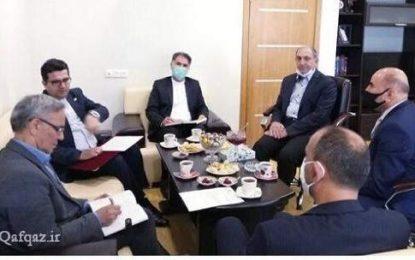 دیدار سید عباس موسوی با رییس شورای مطبوعاتی جمهوری آذربایجان