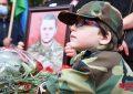 برگزاری مراسم وداع با شهید آزادسازی قره باغ/ تصاویر