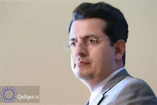 پیام تسلیت توئیتری سفیر ایران در جمهوری آذربایجان به همتای ترکیه ای خود در پی زلزله ازمیر