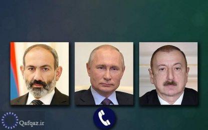 گفت و گوی تلفنی پوتین با علی اف و پاشینیان درباره قرهباغ