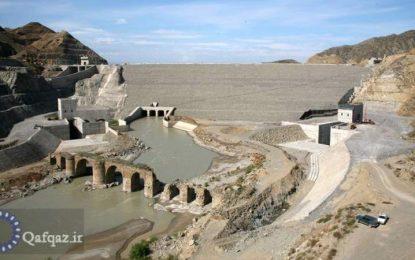 Araz çayının üzərində salınmış Qızqalası su anbarı istifadəyə verildi/film