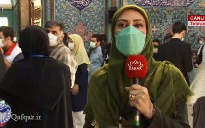 Tehranın İrşad Hüseyniyyəsi seçki məntəqəsində izdiham/video