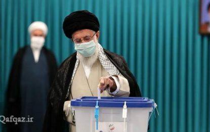 Ayətullah Xamenei prezident seçkilərində səs verib -FOTO
