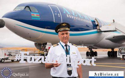 AZAL-ın təyyarəsi Qarabağın beynəlxalq hava limanında ilk eniş edib